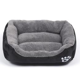 Sofá de pelúcia on-line-Confortável Pet Dog Bed Sleep Quente Teddy Cat Filhote de Cachorro Sofá Casa Mat Outono Inverno Quente Canil transporte da gota