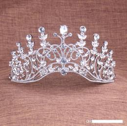 2019 chapéus verdes do fedora Jóias lindo Sparkling prata nupcial de cristal Tiaras Wedding Pageant Prom Crown Hairbands Para Noivas Cabelo Headpiece 2018 Novo