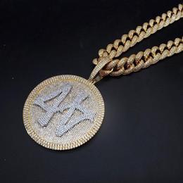2019 conjuntos de jóias de pérolas de platina Hip Hop Homens Bijuterias para fora congelado CZ Bling Big Size pingente colar de homens Rua Hipster Rapper jóias com corrente cubana