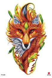 Canada Tatouage temporaire Tatouage Faux Autocollant Loups Renard Animal Bras Tatouages Autocollants Tatouage Imperméable Flash Tatto Pour Hommes Femmes Fille Offre
