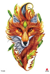 fuchs aufkleber tattoo Rabatt Temporäre Tätowierung Fake Tattoo Aufkleber Wolf Fox Tier Arm Tattoos Aufkleber Tatouage Wasserdicht Flash Tatto Für Männer Frauen Mädchen