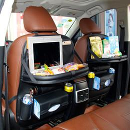 Telefonstühle online-Auto Rücksitz Tasche Reise Klapptisch Kinder Essen Veranstalter Taschen Telefon Pad Stuhl Lagerung Pock Box Verstauen Aufräumen Auto Zubehör