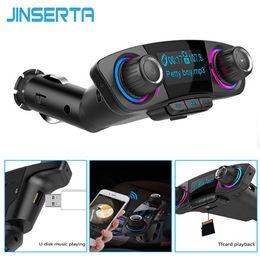 clip mp3 rosa giocatore mp3 Sconti JINSERTA Lettore MP3 Dual USB bluetoorh Kit FM Transmitter Aux modulatore vivavoce Bluetooth Car Audio con Smart Charging