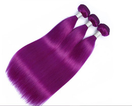 sehr indisches haar Rabatt Purpurrote Farbe Indische remy Haareinschlagfäden reale Menschenhaarverlängerung, die 100g / pc sehr glatt spinnt