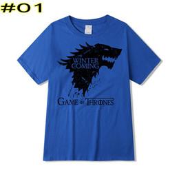 t-shirts imprimés famille Promotion T-shirt à manches courtes à manches courtes Stark Family Winter T-Shirt