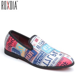 4499d410a04e ROXDIA brand plus size 39-48 PU leather fashion style casual men flats  waterproof dress oxford man shoes male loafers RXM111