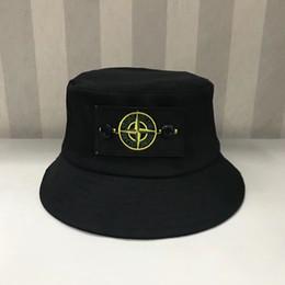 6 cores SI balde chapéus ao ar livre bonés homens mulheres unisex gorros chapéus de sol de algodão chapéus de aba mesquinha preto branco supplier top si de Fornecedores de top si