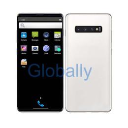 senioren handys Rabatt Goophone S10 plus HD-Bildschirm 6,5-Zoll-Handy 1 GB RAM 8 GB ROM Quard Core Fingerprint Iris Entriegelte 2G 3G-Mobiltelefon