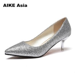 52670c5cc Designer Dress Shoes Summer Women Pumps Sexy Gold Silver High Heels Fashion  Pointed Toe Wedding Party Leisure Bling Sandals Valentine