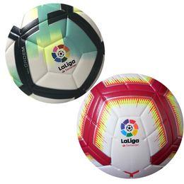 хорошие шарики Скидка Лига чемпионов 2018 2019 размер 5 шаров футбольный мяч высокого класса хороший матч Лига Премьер 18 19 футбольные мячи (корабль шары без воздуха)