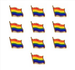 Argentina venta al por mayor 100 unids Gay Lesbian Pride Rainbow LGBT LGBTQ bandera solapa pines Suministro