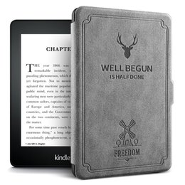 Housse pour kindle paperwhite en Ligne-Coque Kindle Denim Skin Smart Cover pour Kindle Paperwhite 4 Coque Magic Case pour New Paperwhite 10ème génération 2018 disponible