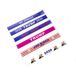 sportförderer Rabatt 2020 Donald Trump Wristbands Reißfestes Papier Donald Bracelet Sports Wasserdichtes Wrist Band Trump Supporters Bangle Haushaltswaren T2I5197