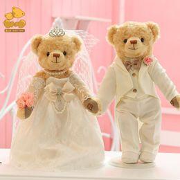2020 пары куклы Свадебные куклы пара кукол 36 см суставы поворотный плюшевый мишка пара высокого класса предпочтительнее свадебные подарки коллекция игрушек дешево пары куклы