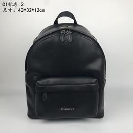 68717a338787e 2019 schwarze rucksäcke Herrenrucksack Schwarzer Logo-Print Rucksack Top  Vollledergriff Verstellbarer Schultergurt günstig schwarze rucksäcke