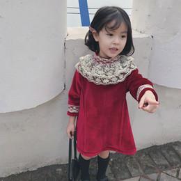 WLG niños vestidos para niñas Vestido de Navidad para bebés niñas niños casual vestido de acción de gracias rojo malla niños ropa 2-7 años de edad desde fabricantes