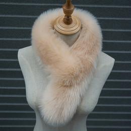 2019 collo Adisputent colori solidi calda inverno Natural Fur Collar donne sciarpa Faux Fur Coat sciarpe di lusso Raccoon scaldacollo collare 2019 collo economici