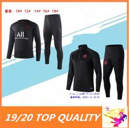 Kinder fußball anzüge online-KINDER 2019 2020 psg MBAPPE Fußballtrainingsanzug 19 20 Paris POGBA CAVANI Fußballtrainingsanzug