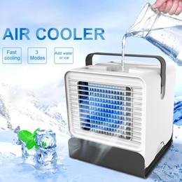 2019 cooler mini usb umidificador de ar Mini Refrigerador de Ar Portátil de Mesa Ventilador USB Ar Condicionado Purificador de Umidificador de Íon Negativo com Luz Da Noite cooler mini usb umidificador de ar barato