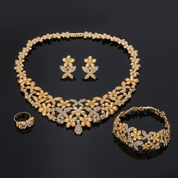 ювелирные изделия золото набор дубай оптовая Скидка BAUS Vintage Dubai Gold Colorful Jewelry Sets Wholesale Wedding woman accessories jewelry set  Big statement set