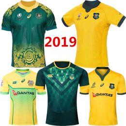 Camicia di storm online-Coppa del mondo 2019 AUSTRALIA WALLABIES JERSEY 18/19 Sydney Roosters rugby Maglia maglietta da rugby Maglia da baseball australiana melbourne S 3XL