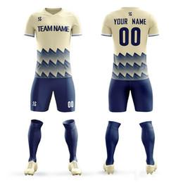 Argentina 2019 camisetas de fútbol Kit de fútbol Adultos Niños Trajes deportivos Juegos de entrenamiento de impresión Camisetas de fútbol cómodas Número de nombre personalizado Ropa Suministro