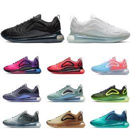 hot sales 2dd87 3a9a6 Nike air max 720 chaussures de course pour hommes femmes top qualité  Northern Lights Rose mer triple noir coucher de soleil vert CARBON GREY  mens baskets de ...