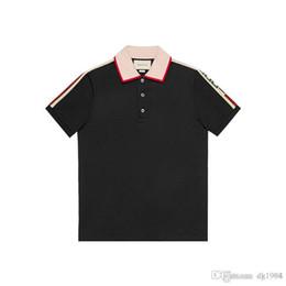 Nouvelle mode 18ss designer marque de luxe vêtements de marque hommes tissu lettre de polo t-shirt col rabattu femmes occasionnelles tshirt tee shirt ? partir de fabricateur