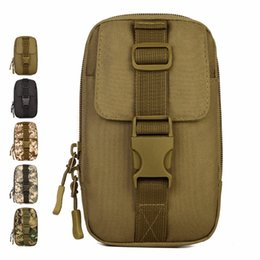 belt cases cell phones Promo Codes - High Quality Nylon Waist Pack Men Travel Molle Tool Small Bag Hip Belt Cell Mobile Phone Case Male Fanny Purse Pouch