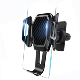 Große klammern online-Autohalterung Lüftungsgitterhalterung Anti-Shake-Speicher Telefon Steht für in Auto Big Mobile Handy GPS Halterung Flexible Buchse