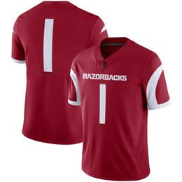 молодежные спортивные майки Скидка Мужская женская молодежь дети NCAA Арканзас Razorback Спорт Джерси обычай любое имя любой футбольный колледж трикотажные изделия