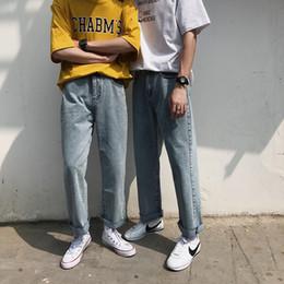 nuovi uomini di stili di taglio Sconti Jeans da uomo 2019 estate nuova sottile colore puro stile college concisa allentata con pelliccia paio di jeans casual moda maschile da uomo