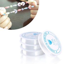 Rouleaux de bijoux en tissu en Ligne-Cordons en tissu IY Apparel 2 Rolls String DIY Perler Faire BraceletNecklace Bijoux 0,4-1,0 MM Stretch Transparent Stretchy Élastique ...