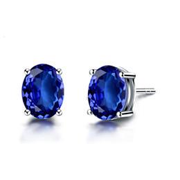 2019 18k jade earrings studs Anjo de Jade 18 K Ouro Oval Cut Tanzanite Brincos para As Mulheres da Jóia Do Casamento 18k jade earrings studs barato