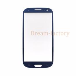 2020 touchscreen glas s5 50pcs DHL vordere Außen-Screen-Glasobjektiv für Samsung Galaxy S3 / S4 / S5 Schwarz Weiß Blau