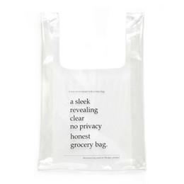 Пластиковые желе онлайн-New Transparent Plastic Handbag Women Shopping Bag Holographic Jelly Small bag Fashion PVC Clear Beach Tote