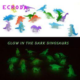 brillan los juguetes oscuros para los niños Rebajas Ecroda 32 unids 2 Pulgadas Mini Jurásico Noctilucent Dinosaur Toys Kids Glow In The Dark Dinosaurios Figuras de Acción Juguetes