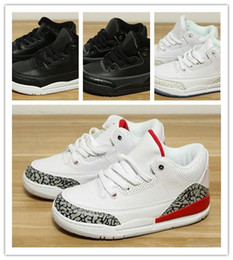 Teenager sneakers online-NIKE AIR JORDAN RETRO shoes Kinder 3s 3 Hohe Basketballschuhe für Jungen Sportlich Mädchen Turnschuhe Kind Sport Kinder Teenager Chaussures Schuhe