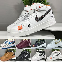Argentina Nike air force 1 one off white 2019 One 1 Dunk Utility Men Lady Casual Shoes Skateboarding Black White Just Orange Wheat Mujer Hombre High Low Cut Zapatillas de deporte Plataforma supplier mid cut running shoes Suministro