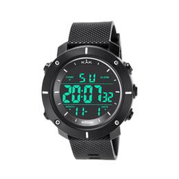 Relojes deportivos de gama alta digital online-Reloj de pulsera deportivo LED Relojes digitales electrónicos Hombres de gama alta 30M Reloj electrónico impermeable para hombres de la serie