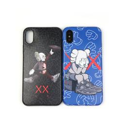 Парный телефон онлайн-Для Iphone Xr XS Max Phone Case Trend Brand Sesame Doll 6 7 8 X Plus Пара Моделей Силиконовый Мягкий Чехол Для Мобильного Телефона