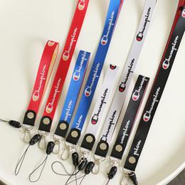Mode-handy-armband online-Mode Champion Sport Handy Lanyard ID-Karte Halsschlüsselketten Riemen Zubehör für Handy Schlüsselbund Schlüsselband befestigt Halter-Bügel-C7305