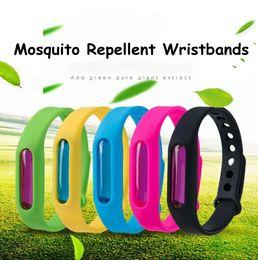 Canada 8 styles anti-moustiques Bracelets Silicone Repellent Poignet Bracelet Bracelet Plante Naturelle Huile Essentielle Bracelet Bracelet Promotion Cadeau Offre