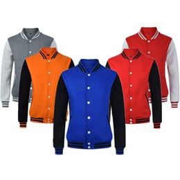 2019 nuovi ragazzi alla moda New Men / Boy Baseball Jacket Men 2019 Fashion Design Wine Red Mens Slim Fit College Varsity Jacket Uomo Marca Elegante Veste Homme nuovi ragazzi alla moda economici