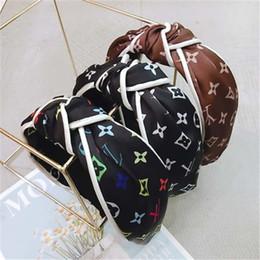 2019 kleine mädchen haarclips großhandel Vintage Stirnband-Blume verknotete Haarband für Frauen arbeiten IN koreanischen Mädchen-Haar-Zusätzen Fee Einfacher gestreifte Hair AFJ724