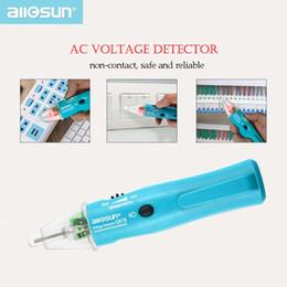 2020 contatos da bateria 5-1000 Volt Pen Detector de bolso Tamanho sonda Tensão de ensaio Pen sem contato Electro segurança com luz LED Todos Sun GK16 contatos da bateria barato