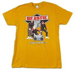 Camisa alaranjada dos meninos on-line-Beastie Boys Solid Gold Hits Laranja T Camisa New Official Merch SoftFunny frete grátis Unisex Casual Tshirt