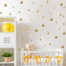 2019 adesivos de parede de triângulo Muro triângulos quarto do bebê decoração do quarto das crianças da etiqueta para a sala dos miúdos Crianças Decoração Wall Sticker Nursery Decal adesivos de parede de triângulo barato