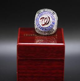 2020 подарки сувенирные оптом Вашингтон 2019 Подданного World Champions Series Baseball Командного первенства кольцо сувенир вентилятор Мужчины подарки оптом дешево подарки сувенирные оптом