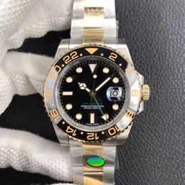2019 embalagem relógio de luxo N fábrica novo pacote GMT 18k relógios de luxo de ouro V9 edição 904L relógio de aço dos homens rolamento 3186 movimento automático relógios de luxo embalagem relógio de luxo barato
